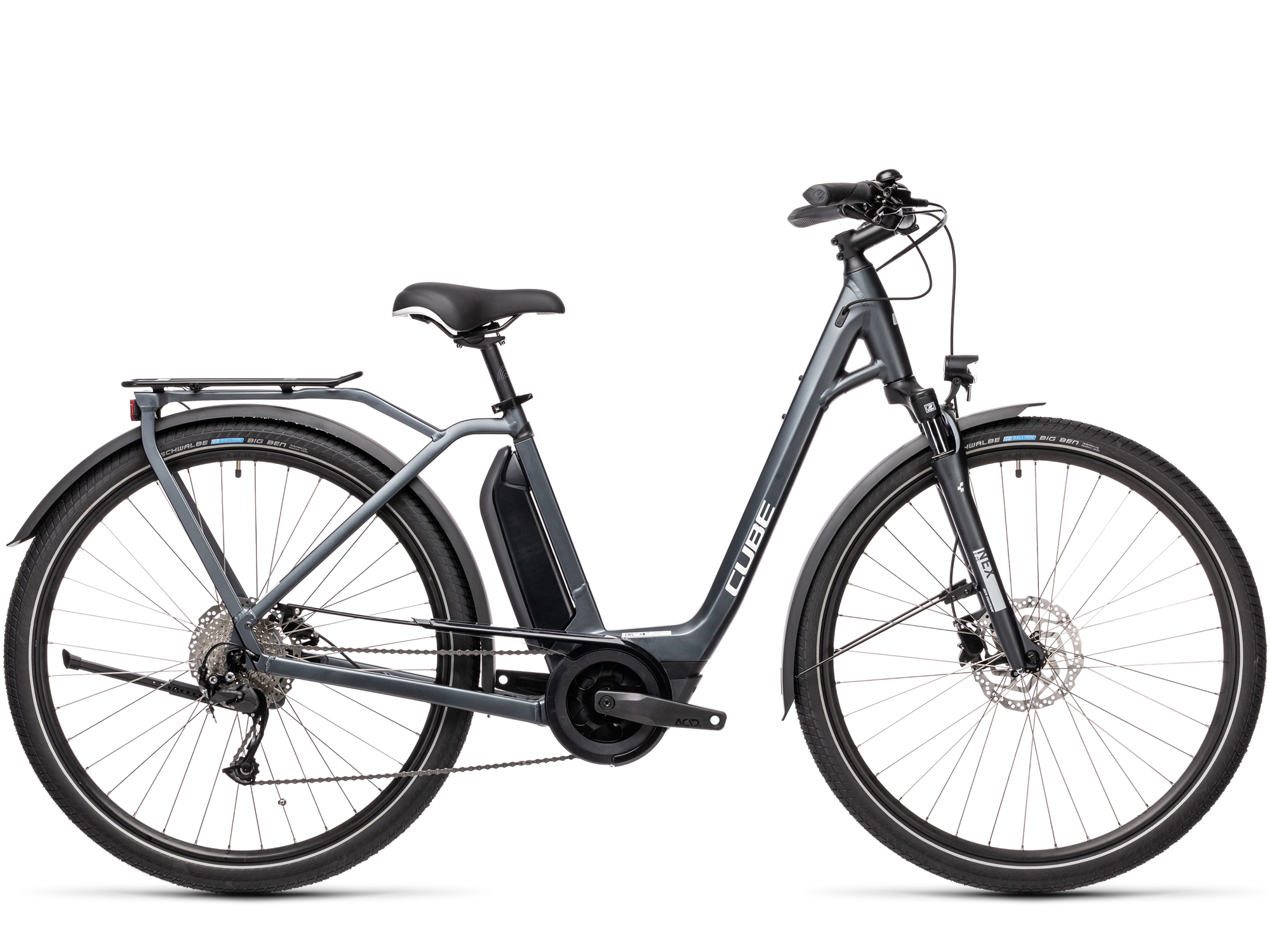 CUBE Town Sport Hybrid ONE 400 Gris